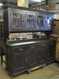 Bar Hutch Cabinet Oklahoma Barn Market Back Bar Cabinet With Leaded Glass