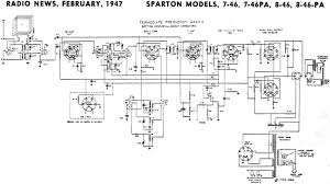 Crosley Radio Parts Sparton Models 7 46 7 46pa 8 46 8 46pa Schematic U0026 Parts List