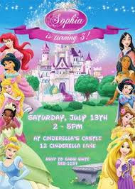 disney princess birthday invitation free download edit