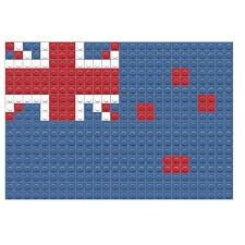 Flag New Zealand Flag Of New Zealand Pixel Art U2013 Brik