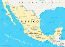 Map Of Latin America With Capitals by Mexico Political Map With Capital Mexico City National Borders