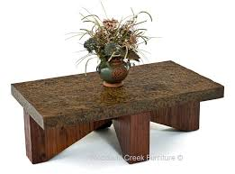 Rustic Metal Coffee Table Rustic Chic Metal Coffee Table Industrial Cocktail Bronze