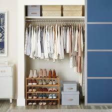 small closet platinum elfa small space closet the container store