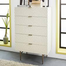 dresser bedroom furniture audrey 5 drawer dresser parchment west elm