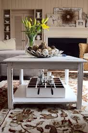 thrift end table to farmhouse coffee table makeover bless u0027er house