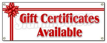 online gift certificates gift certificates