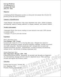 Resume Sample For Retail retail manager resume a list of retail cv templates for various