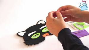 craft project how to make a halloween foam mask youtube