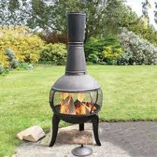 Chiminea Outdoor Fireplace Clay - clay chiminea grill lid and stand small patio fireplace ideas