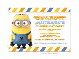 minion birthday invites modernstork com