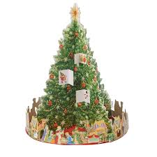 nativity tree 3d advent calendar curie charity shop