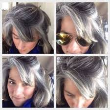 how to grow in gray hair with highlights transition to gray after 5 months blonde highlights to blend gray