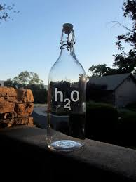 glass water bottle etched glass personalized glass