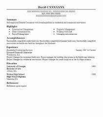 best general contractor resume example livecareer