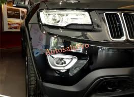 jeep grand cherokee fog lights chrome front rear fog light l cover trim 4pcs for jeep grand