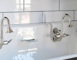 Double Trough Sink Bathroom Sink Creative Double Trough Sinks For Bathrooms Nice Home Design