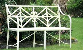Steel Garden Bench White Metal Butterfly Garden Bench Metal Garden Bench Ends
