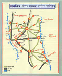 Agra India Map by Meerut Map Jpg