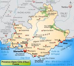 Marseilles France Map by Map Of Provence Alpes Cote D Azur As An Overview Map In Pastel