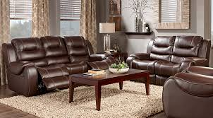 Reclining Living Room Set Baycliffe Brown 3 Pc Living Room With Reclining Sofa Living Room