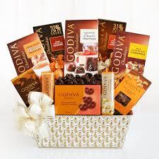 gift baskets free shipping godiva chocolate elegance gift basket hayneedle