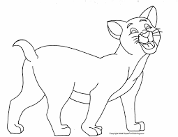 cat coloring book ostrich cat and kitten coloring pages cat