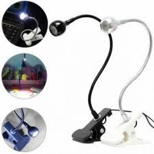 usb flexible reading led clip on beside bed table light desk