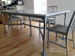 diy dining table ideas 51 diy table ideas built with pipe simplified building