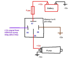 4 pin relay wiring diagram fuel pump circuit and schematics diagram