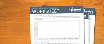 Roi Worksheet Finding Your Perfect Email Send Time Worksheet Salesforce Pardot