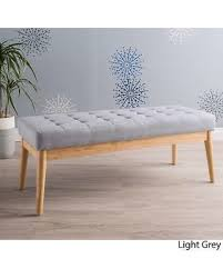 christopher knight home hastings tufted fabric ottoman bench new savings on saxon mid century tufted fabric ottoman bench by