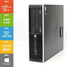 hp ordinateur bureau pc bureau hp elite 8200 i5 8go ram 240go ssd disque dur
