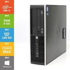 ordinateur bureau hp pc bureau hp elite 8200 i5 8go ram 240go ssd disque dur