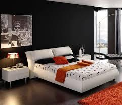 Bedroom Wall Color Effects College Bachelor Bedroom Black Painted Wooden Platform Bed Wood