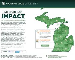 Interactive Map Msu Cheers For Pure Michigan Spartans Will 360