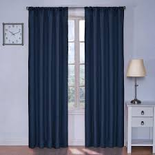eclipse blackout kendall blackout denim curtain panel 84 in