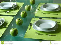 Dining Table Set Up Images Trendy Dining Table Setting Stock Image Image 2205221
