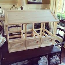 Woodworking Plans Toy Horse Stable by Horse Barn Stable Wood Toy Amish Handmade Breyer Homeschool