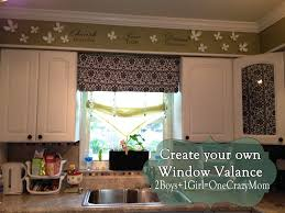 kitchen window valence make your own diy window valance in no time