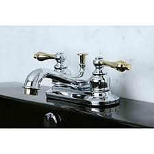 two tone chrome and brass bathroom faucet free shipping today