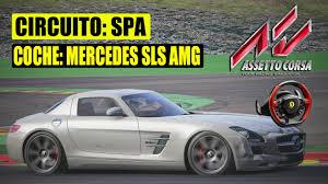 mercedes espa l assetto corsa spa con mercedes sls amg gameplay español