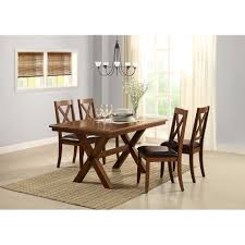 4 Seat Dining Table And Chairs Better Homes And Gardens Maddox Crossing Dining Table Brown