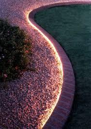 outdoor tube lighting bordillo con led luces pinterest patios ideas para and exterior