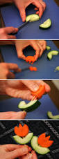 how to make veggie flowers for garnishing party appetizer idea