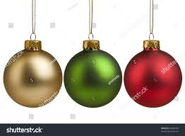gold green baubles isolated stock photo 64896358