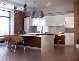 cuisine bois et blanc laqué superb cuisine blanc laque avec ilot 1 cuisine bois et blanc
