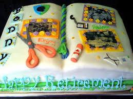 scrapbook retirement cake cakecentral com