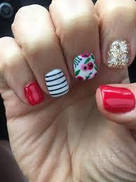 fingern gel design galerie flowers nail design gel shellac nail designs