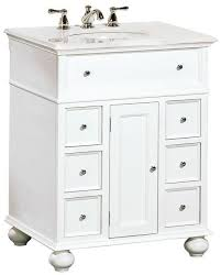 hton bay 28 w single bath vanity with white marble top sink