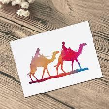 geometric desert landscape lover camel art paint wall art painting